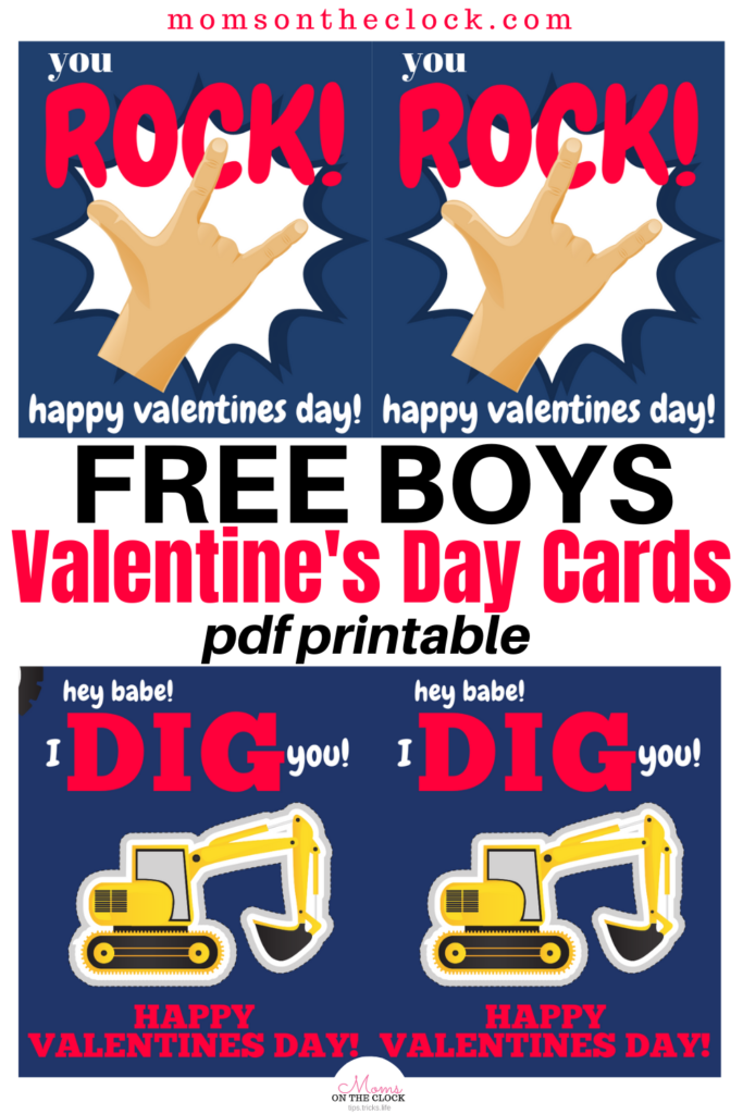 Free Valentine S Day Card Printables Moms On The Clock
